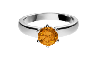 Ring Malmö Madeira Citrin orange Weißgold
