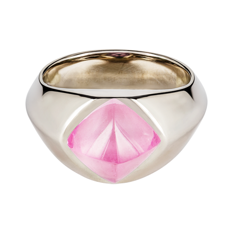Sugar Loaf Ring Turmalin rosa Weißgold