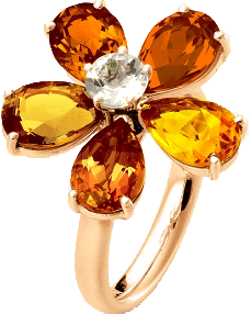 Flowers Collection Ring mit Citrin