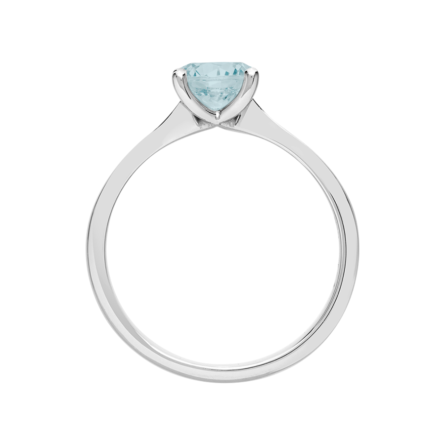 Basel Aquamarine blue in White Gold
