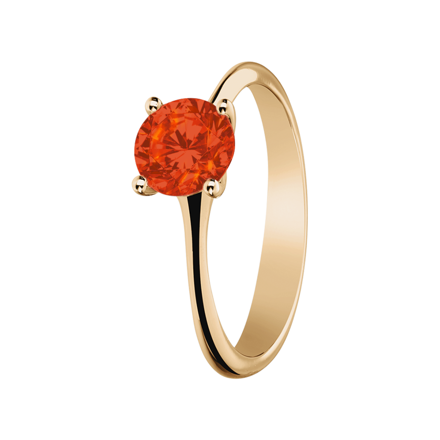 Basel Feueropal orange in Roségold
