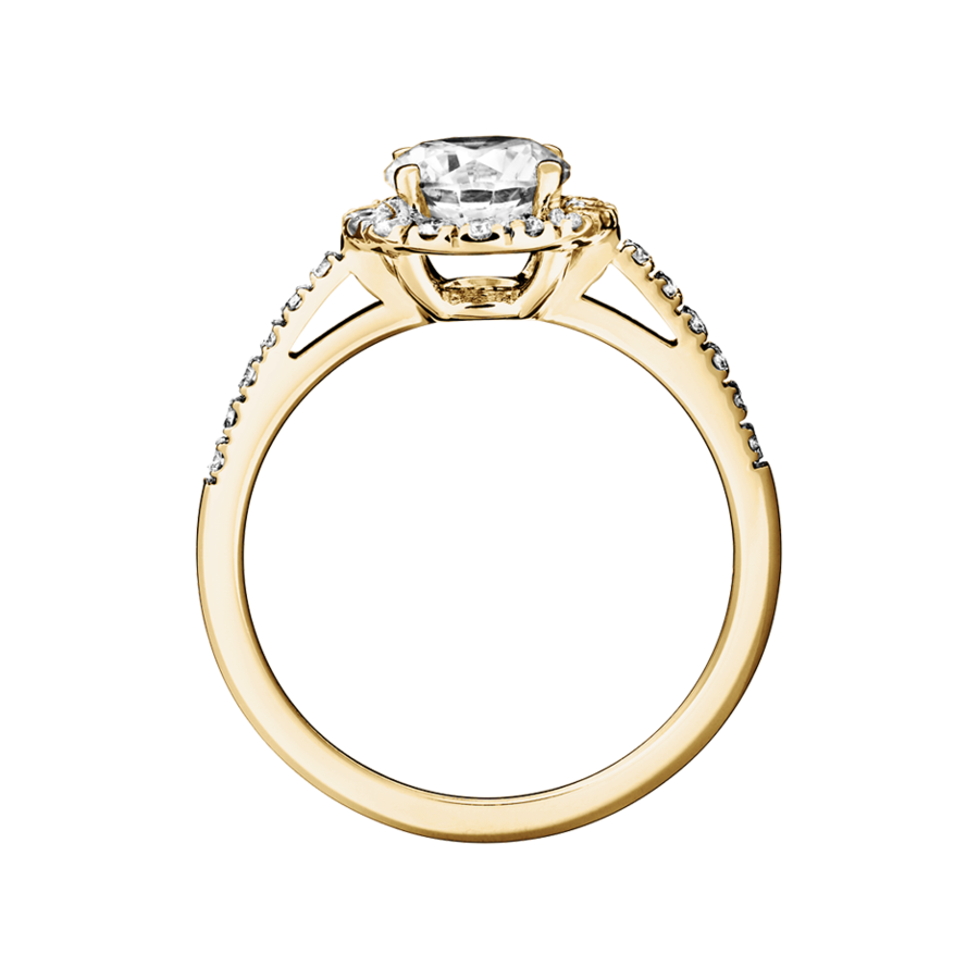 Diamantring Prague 0,75 Karat in Gelbgold