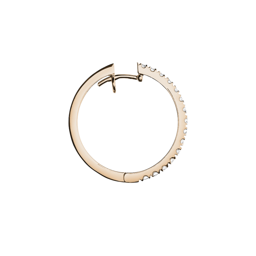 Diamond Hoop Earrings II in Rose Gold