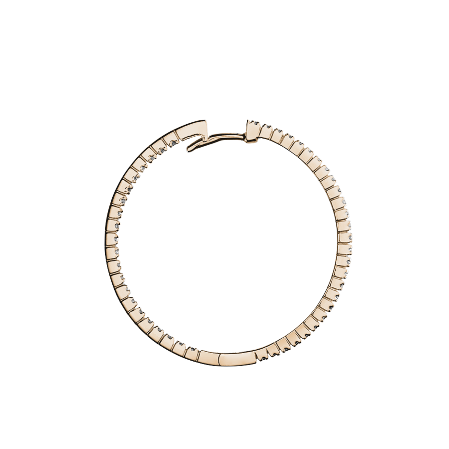 Diamond Hoop Earrings V in Rose Gold