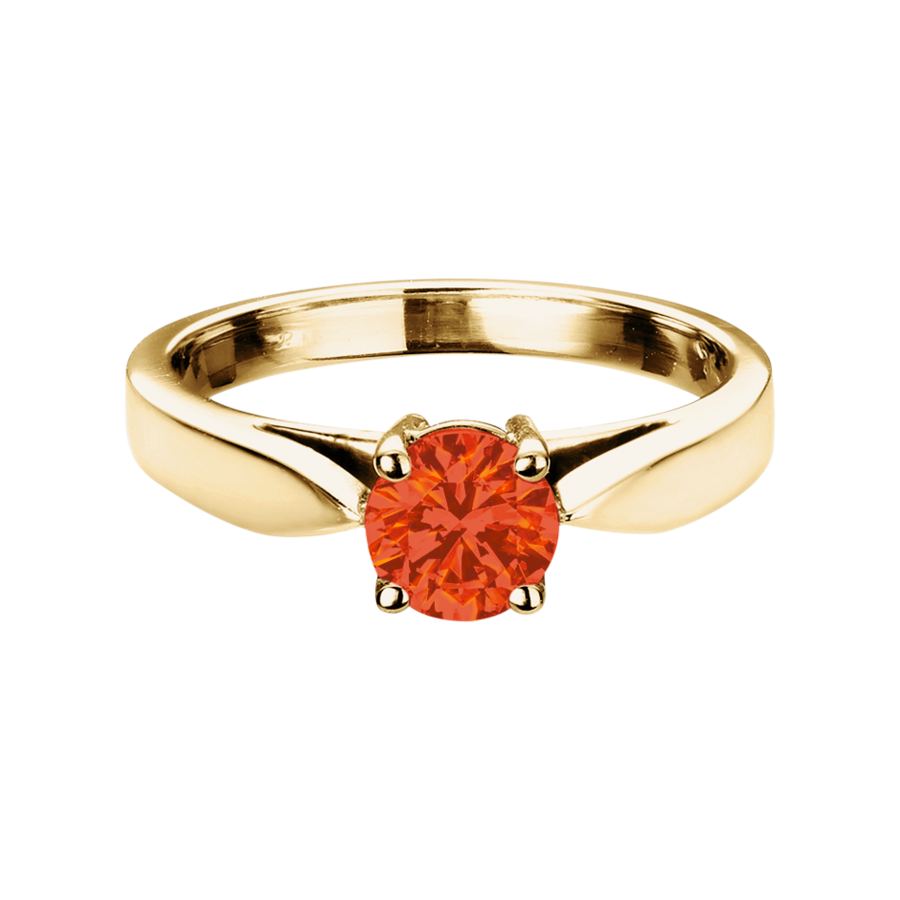 Vancouver Feueropal orange in Gelbgold