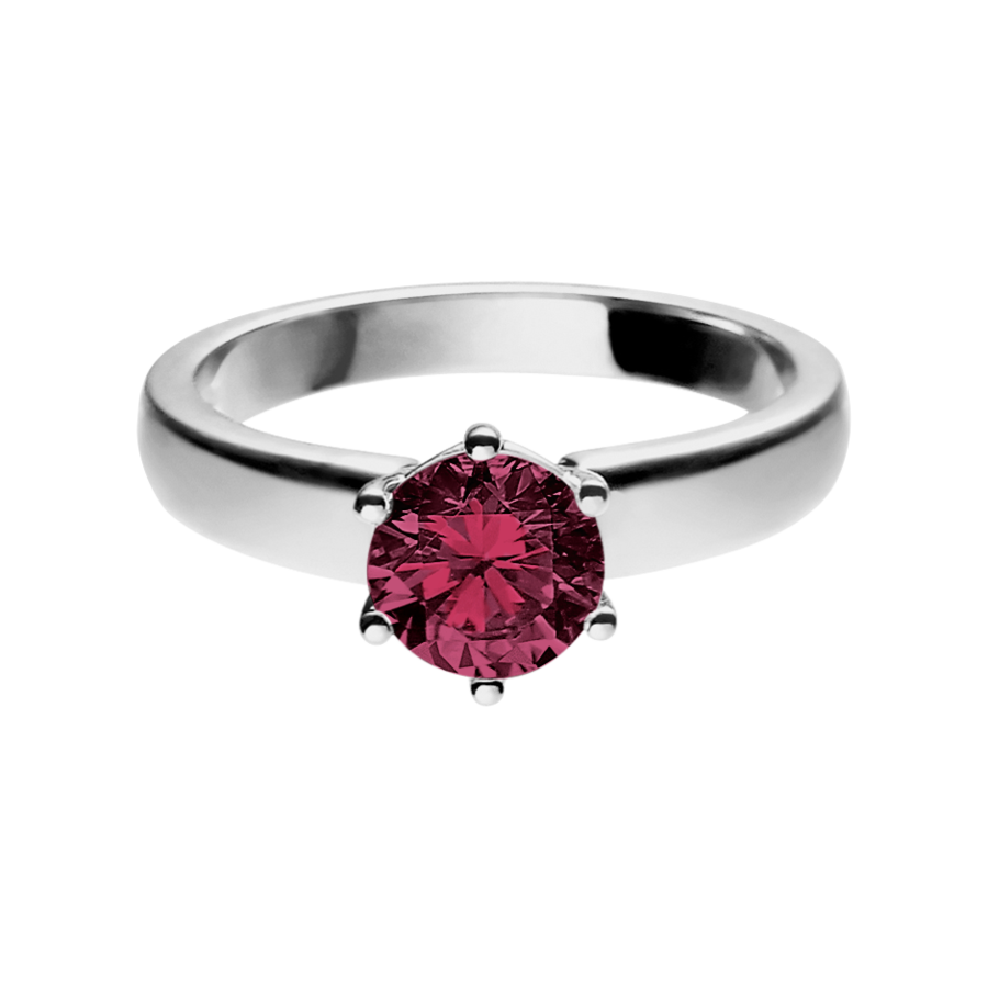 Malmö Rhodolite red in White Gold