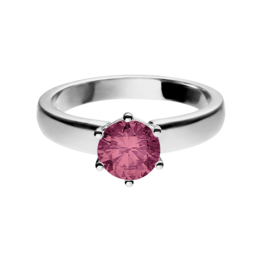 Malmö Tourmaline pink in White Gold