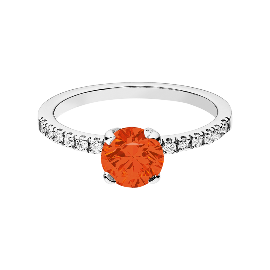 Melbourne Feueropal orange in Platin