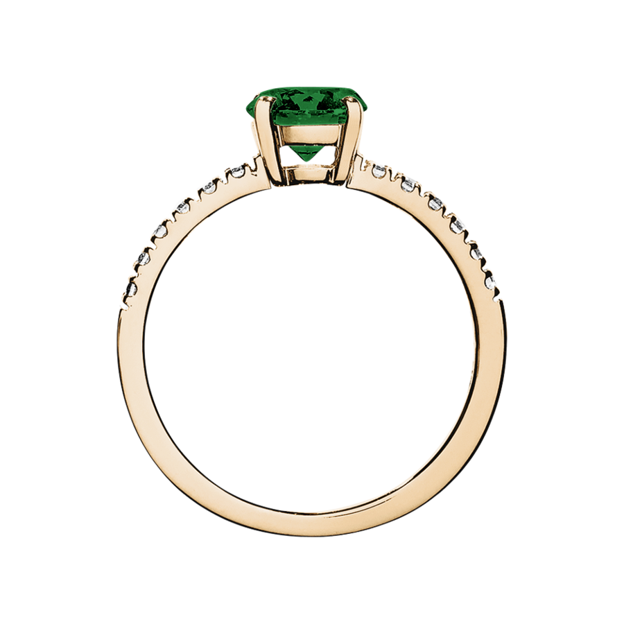 Melbourne Tourmaline green in Rose Gold