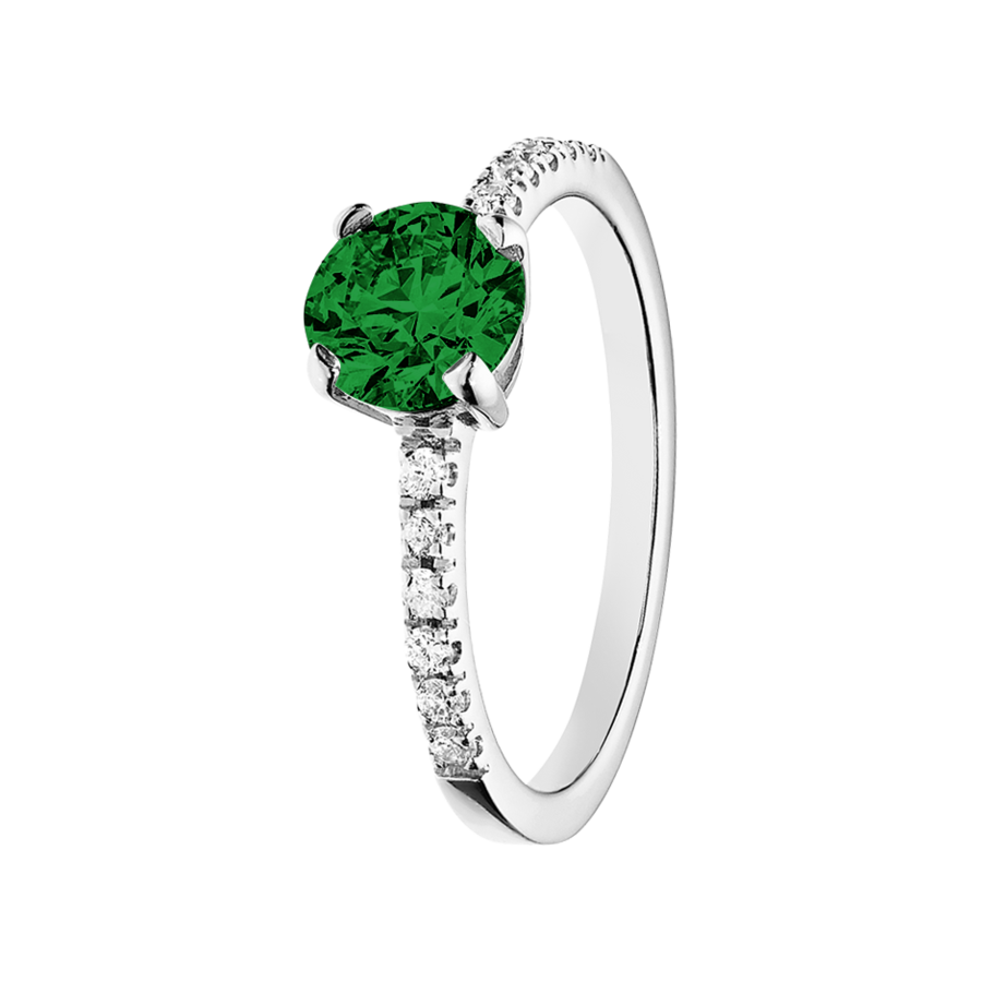 Melbourne Tourmaline green in White Gold