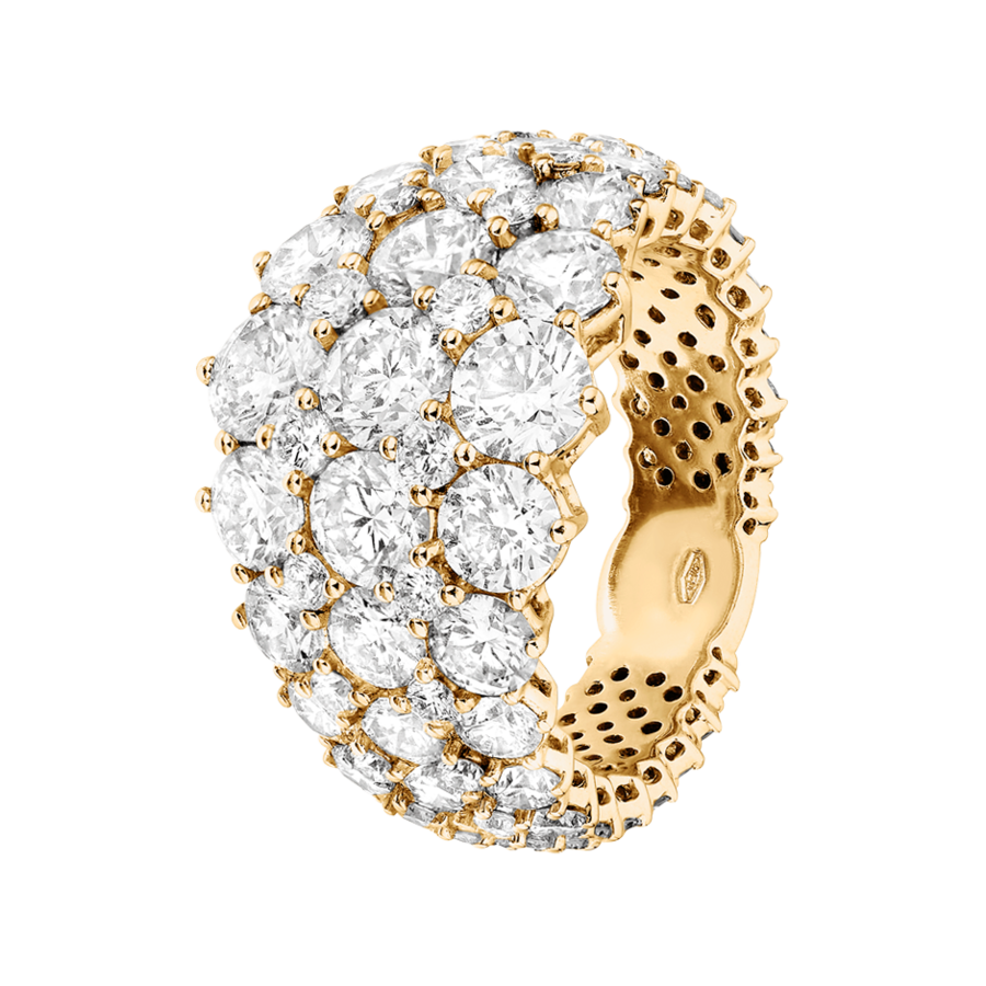 Memoire Ring Jersey in Gelbgold