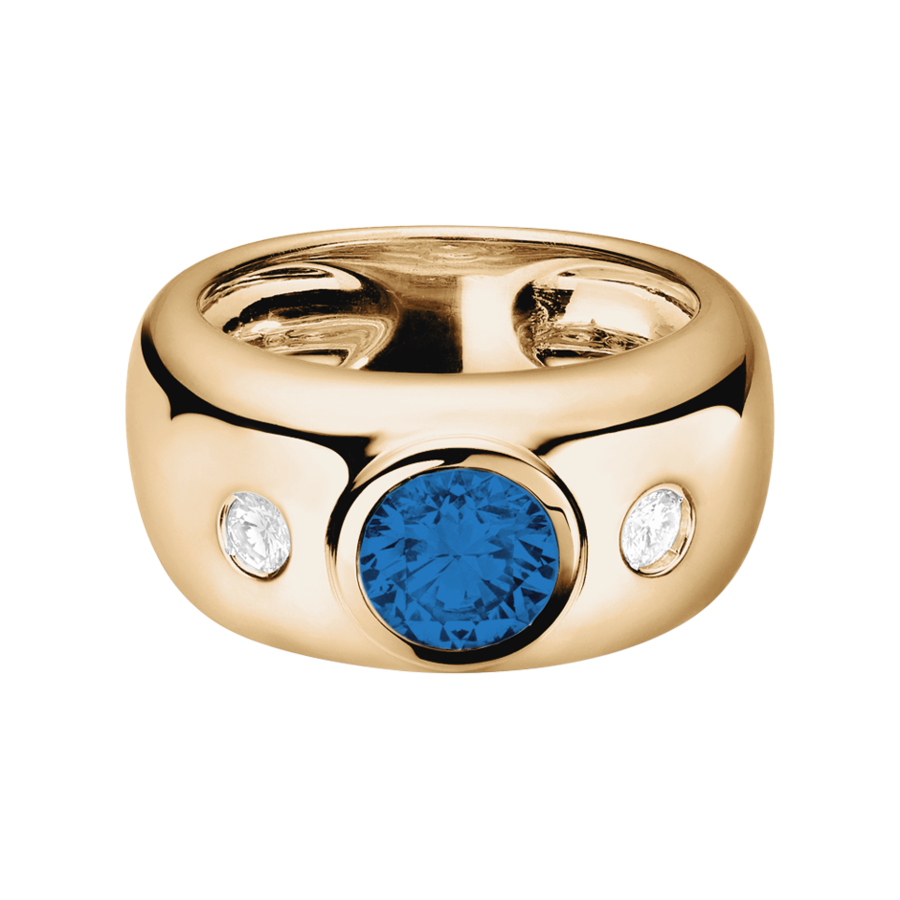 Naples Sapphire blue in Rose Gold