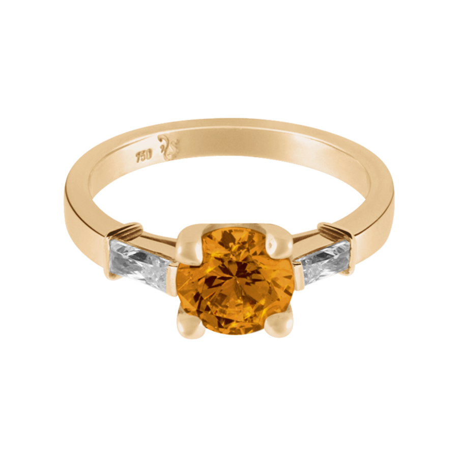 Paris Madeira Citrine orange in Rose Gold