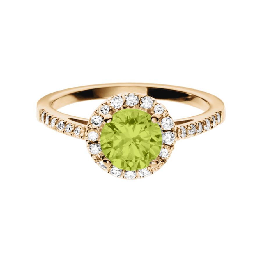 Prague Peridot grün in Roségold