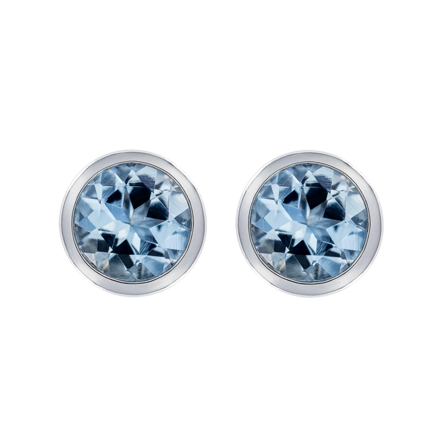 Pure Stud Earrings I in White Gold