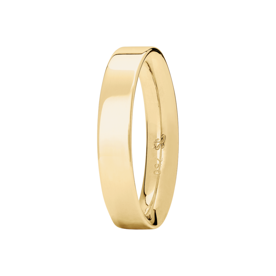 Ring Classics invers in Gelbgold