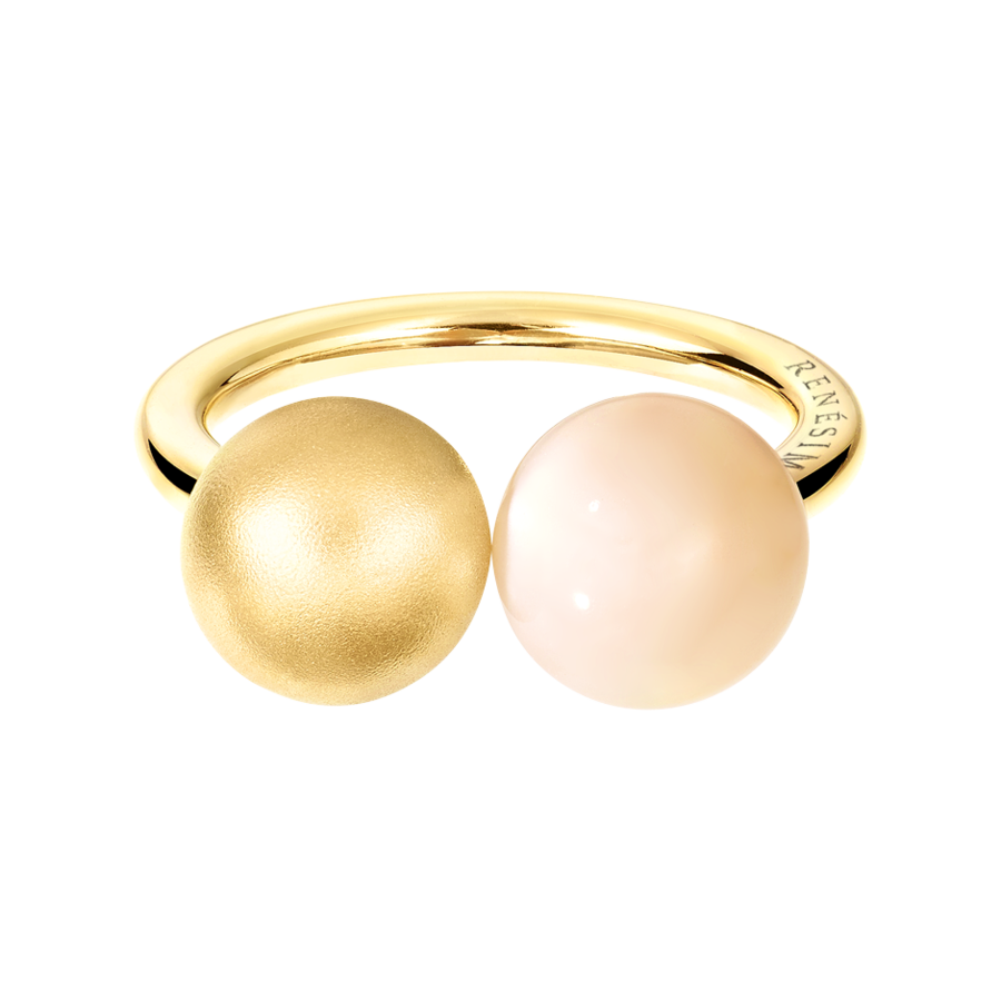 Ring Moonstone & Rose in Rose Gold