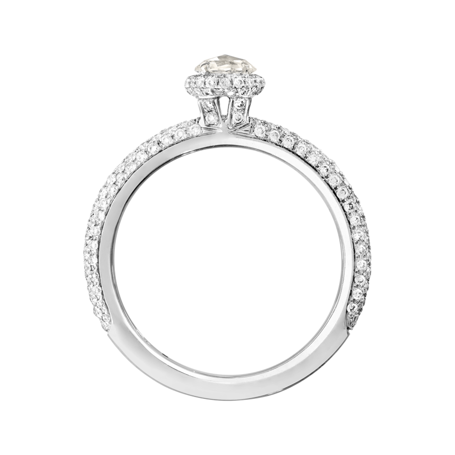 Ring Romance Pavé in Weißgold