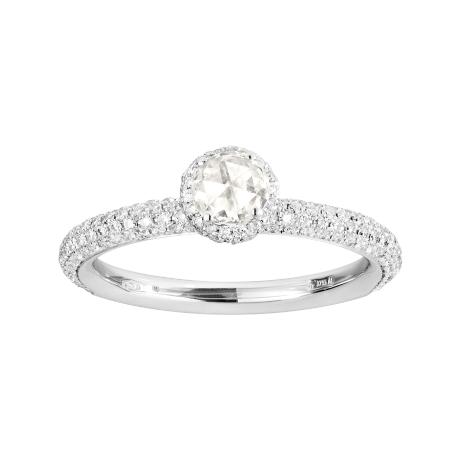 Ring Romance Pavé in White Gold