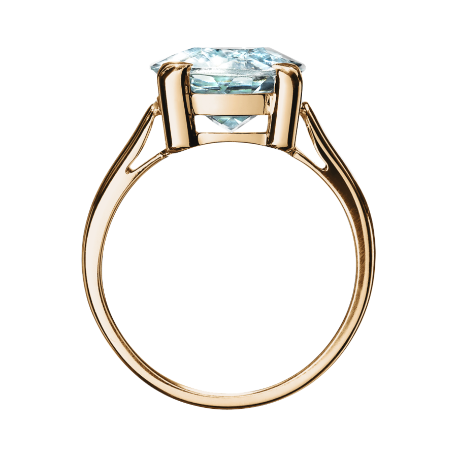 Rocks Antique Cut Ring in Rose Gold