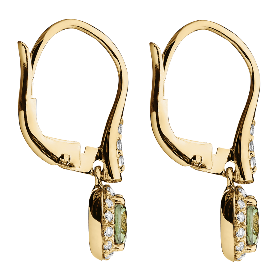 Romance Earrings in Yellow Gold