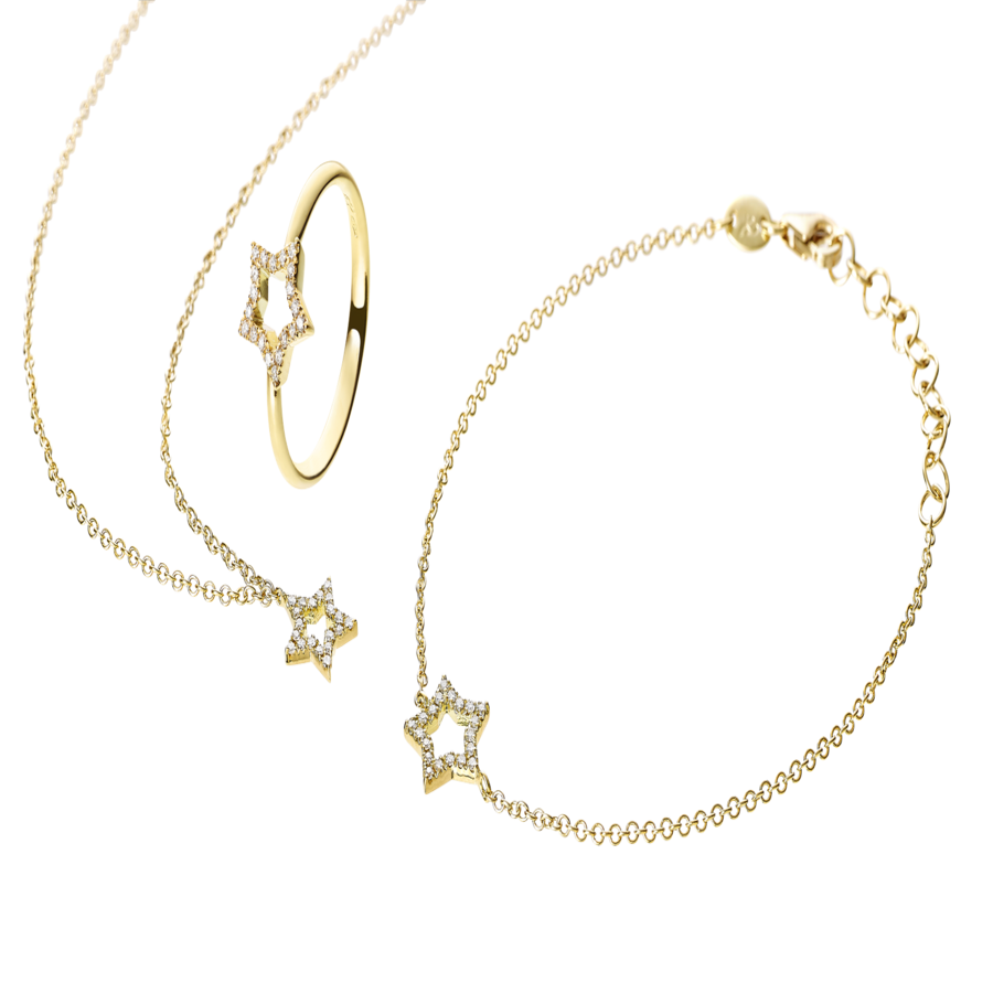Starters Bracelet Star in Yellow Gold