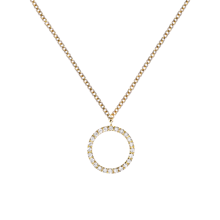 Enchanté Necklace Circle in Yellow Gold