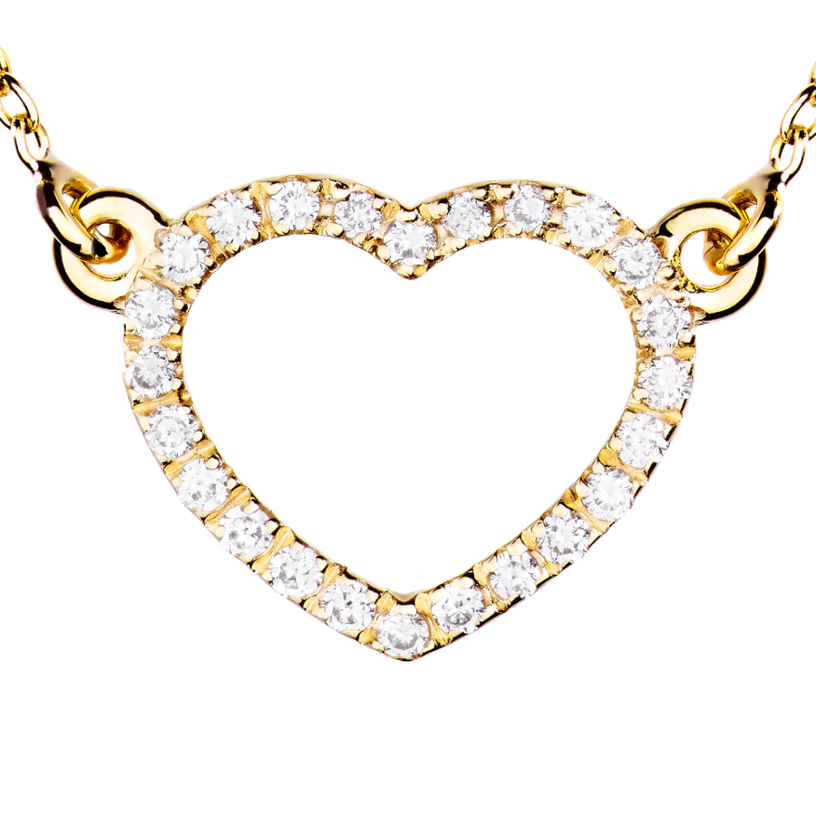 Starters Necklace Heart in Yellow Gold