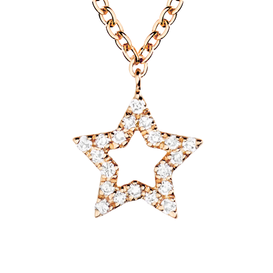 Enchanté Necklace Star in Rose Gold