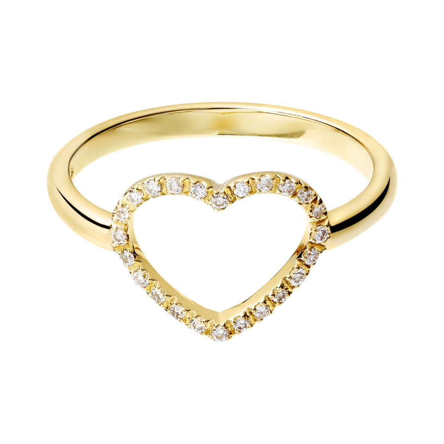 Enchanté Ring Heart in Yellow Gold
