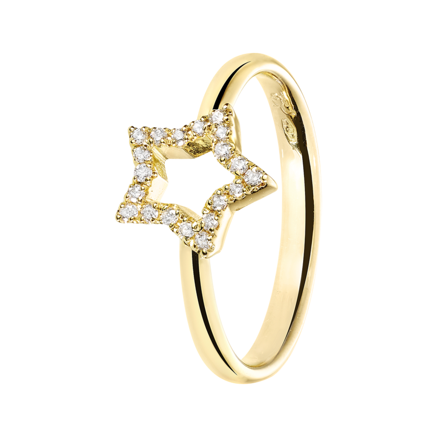 Starters Ring Star in Yellow Gold