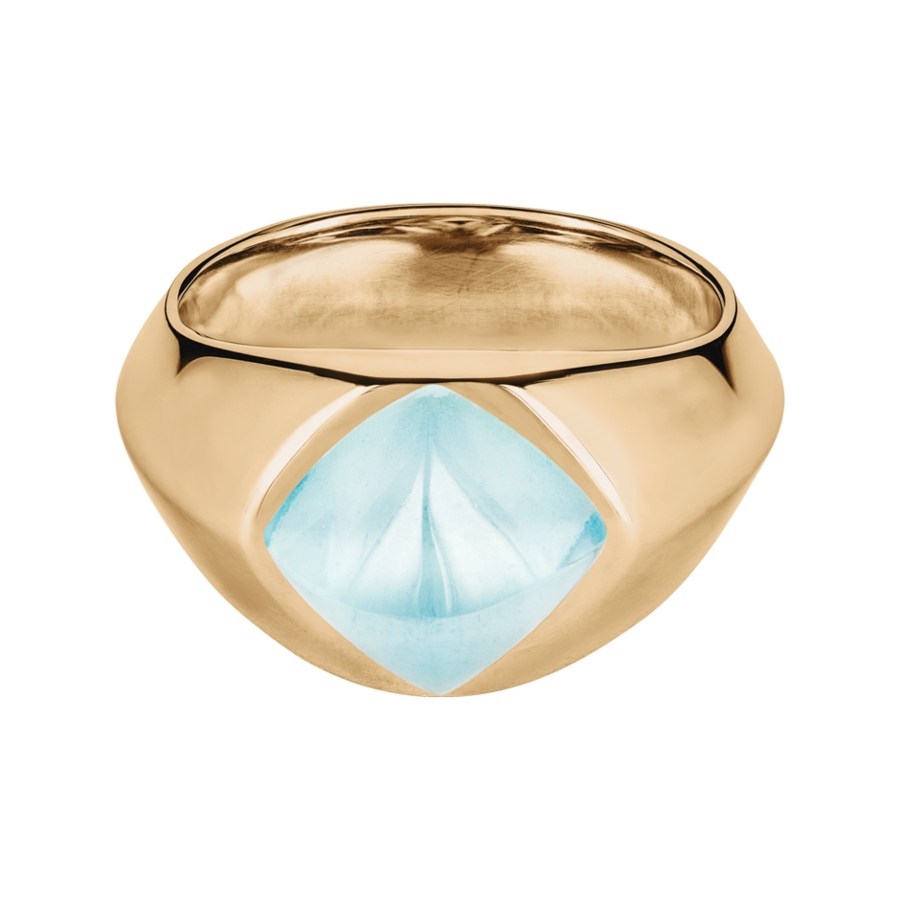 Sugar Loaf Ring Aquamarin in Roségold