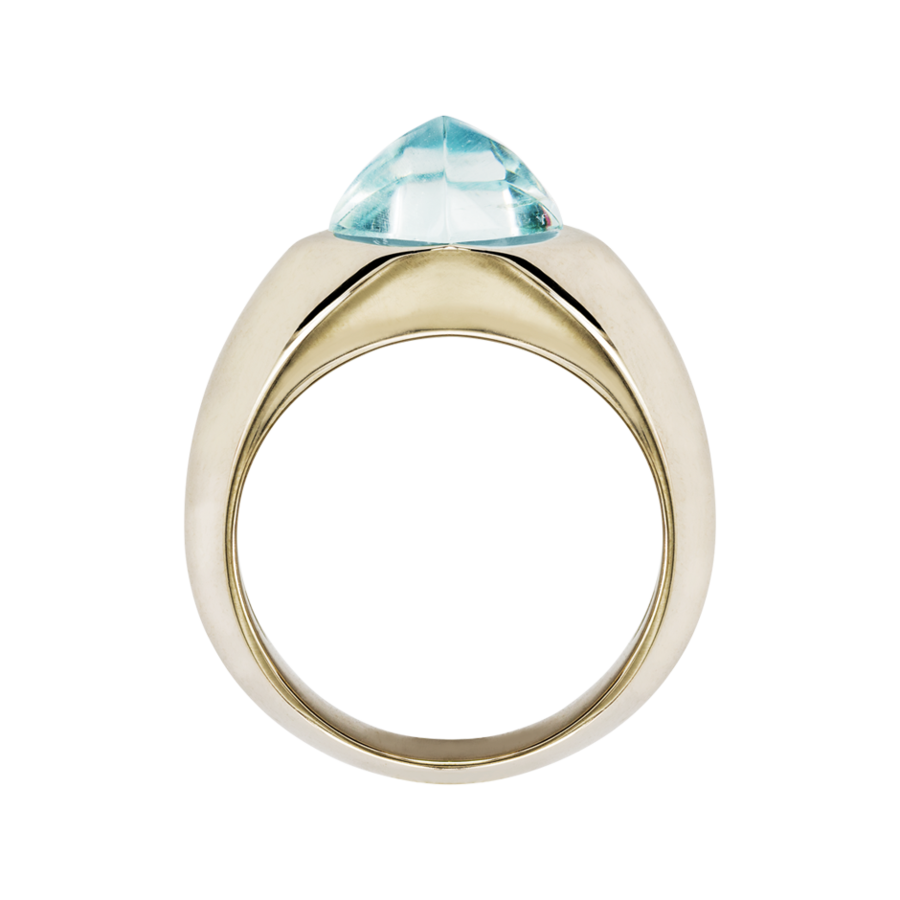 Sugar Loaf Ring Aquamarin in Weißgold