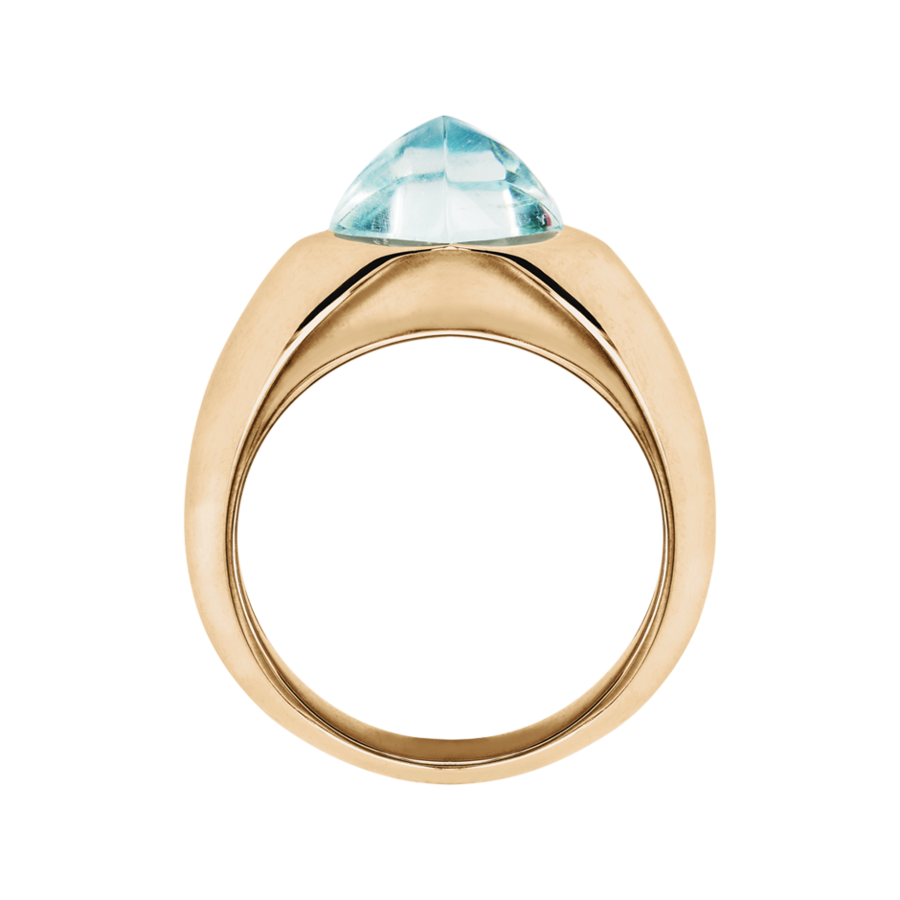 Sugar Loaf Ring Aquamarine in Rose Gold