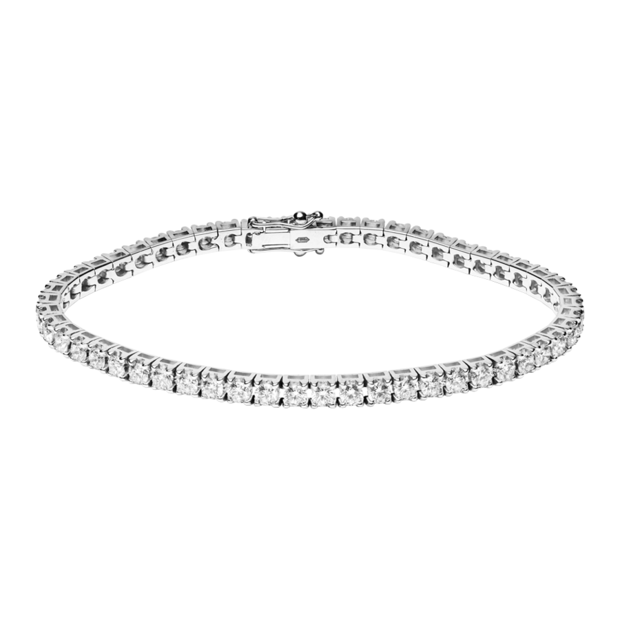 Tennis Bracelet 5.38 ct in White Gold
