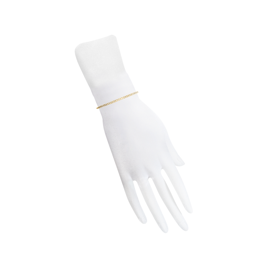 Tennisarmband 3,28ct in Gelbgold