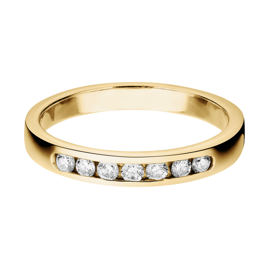 Trauringe mit Memoire Ring Tallinn in Gelbgold