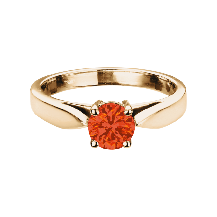 Vancouver Fire Opal orange in Rose Gold