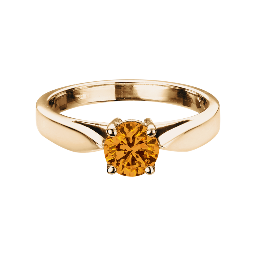Vancouver Madeira Citrine orange in Rose Gold