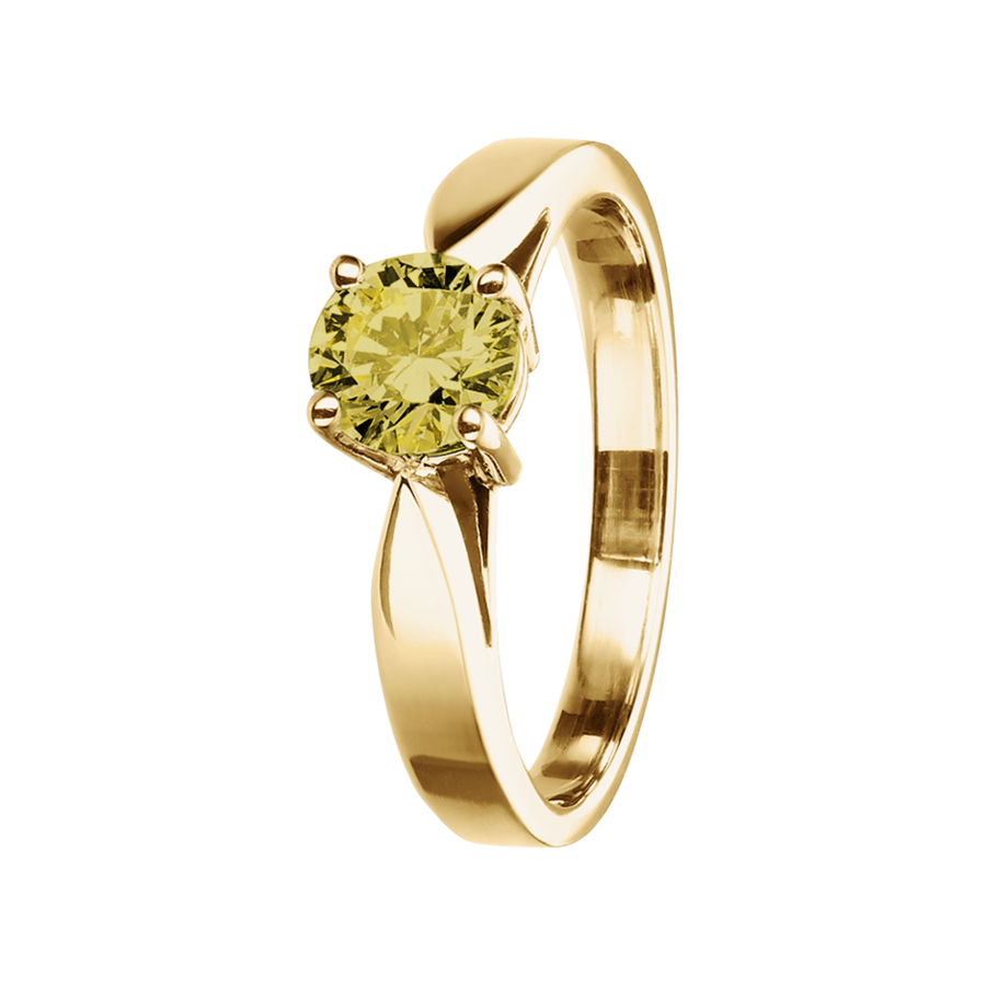 Vancouver Sapphire yellow in Yellow Gold