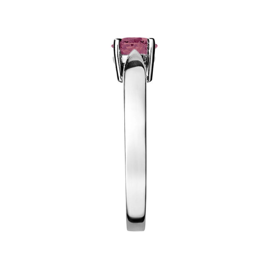 Vancouver Tourmaline pink in Platinum