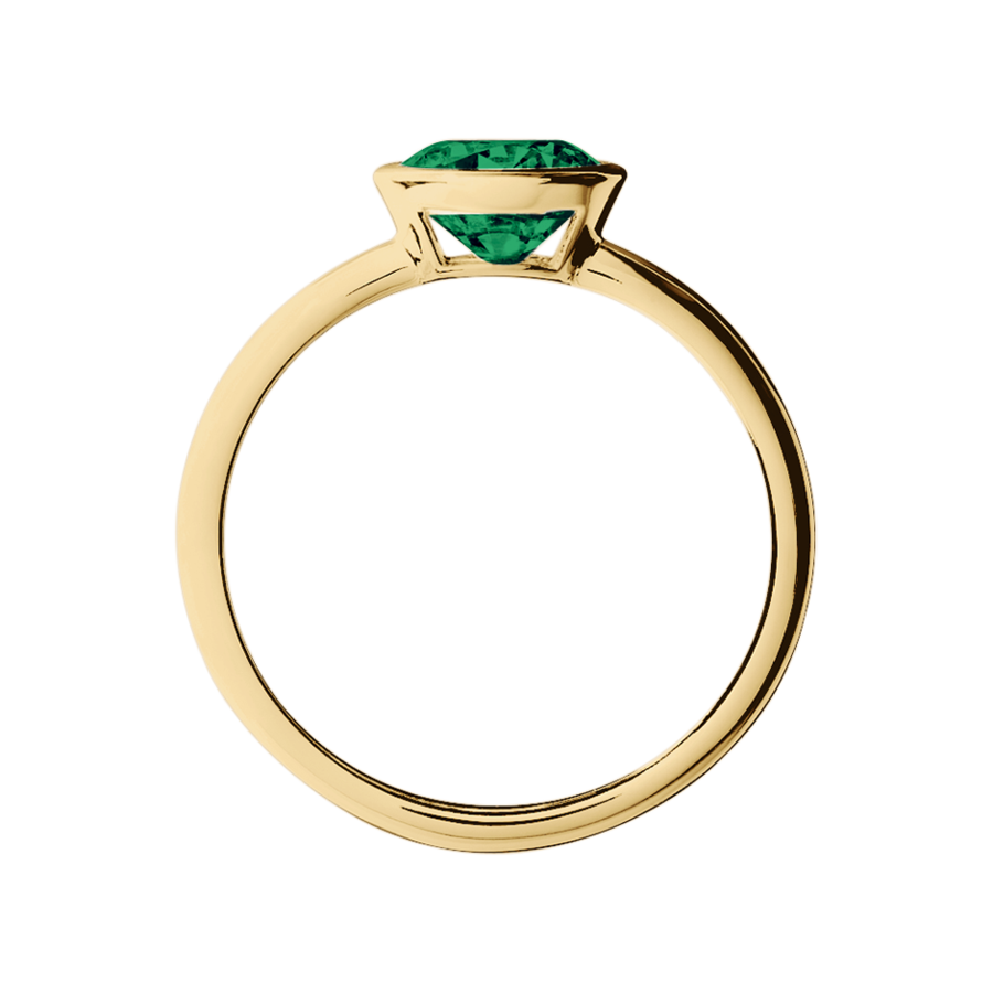 Vienna Emerald green in Yellow Gold