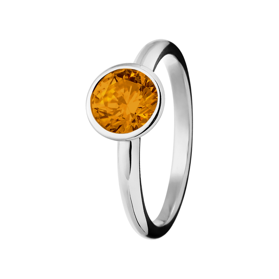 Vienna Madeira Citrine orange in White Gold
