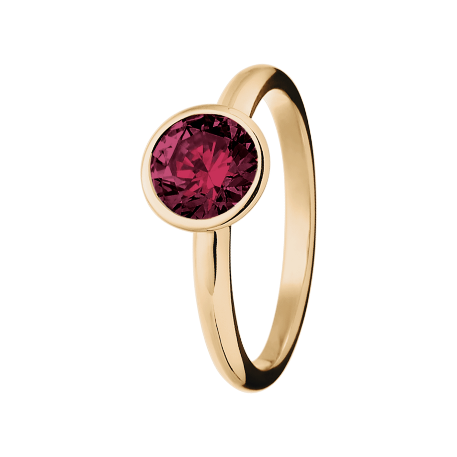 Vienna Rhodolite red in Rose Gold