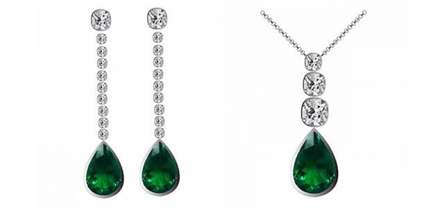 Smaragd schmuck kaufen  Jewelrypalace 4.42ct Damen Geschenk Simulierte Grün Nano Russisch ...