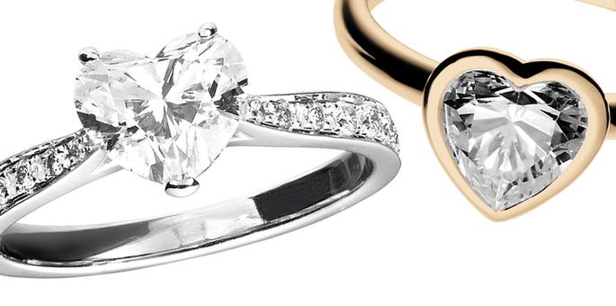 Verlobungsringe mit Herz Diamanten im Stil von Lady Gaga