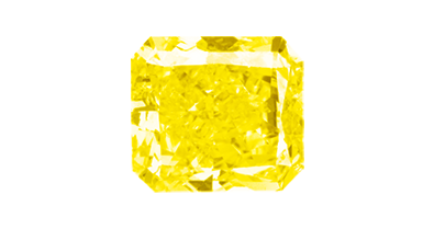 Diamant in der Farbe Yellow Intense
