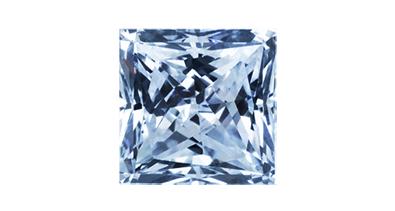 Diamant in Blue Vivid im Prinzessschliff