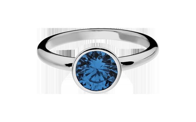 Weißgold ring mit saphir  Farbsteinringe mit Rubinen, Saphiren, Smaragden | RENÉSIM