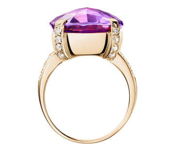 Rocks Cocktailring lila Amethyst in Roségold